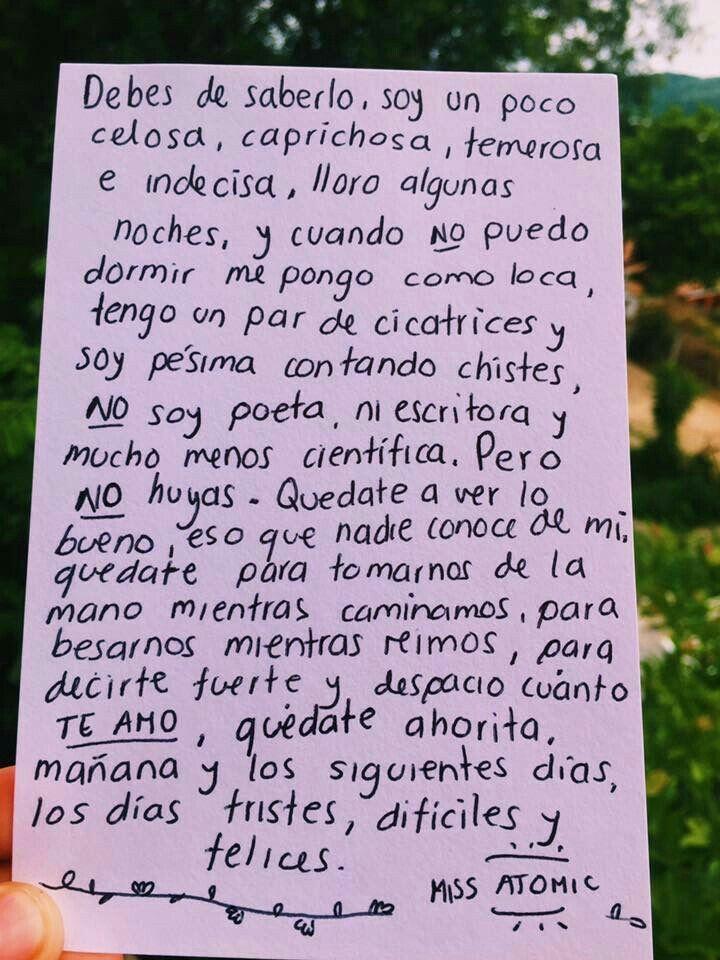 Cartas Para él Love Frases De Amor Frases Cursis De