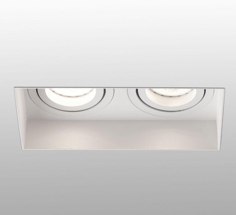Spot Encastrable Hyde Double Trimless Orientable Blanc L16 4cm H5 5cm Faro En 2020 Design Espagnol Lumiere De Lampe Et Spot Encastrable