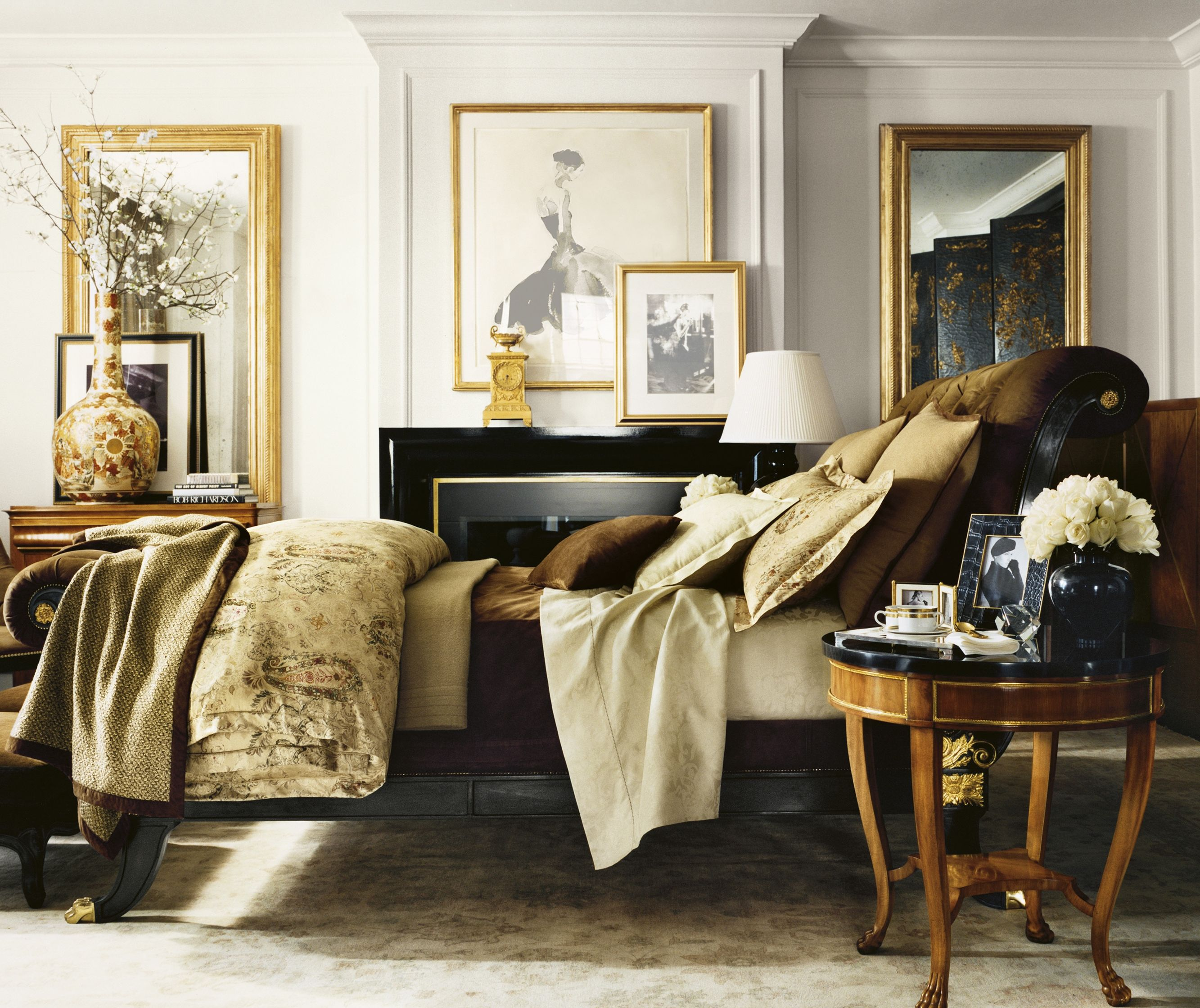 Ralph lauren paint presents a classic rich white perfect for Ralph lauren living room designs