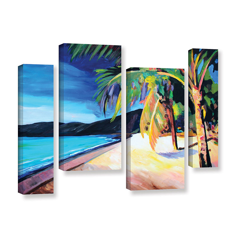 Brushstone Magen S Bay St Thomas Virgin Islands 4 Pc Gallery Wrapped Staggered Canvas Wall Art Canvas Wall Art Gallery Wrap Canvas Canvas Art