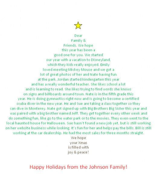 Make Your Christmas Letter In The Shape Of A Christmas Tree