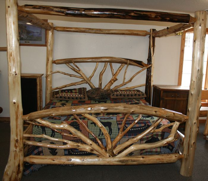 Log Beds Furniture Barnwood Furniture Rustic Furniture Bent Branch Log Bed Twisted