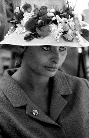 The Italian actress Sophia Loren