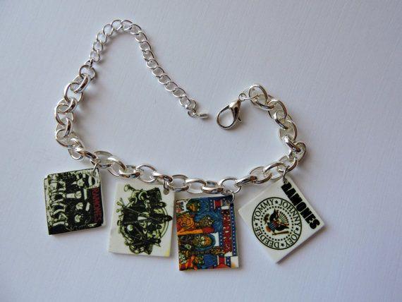 Charm Bracelet The Ramones Novelty Charm Bracelet by SANDJHOTSHOTS