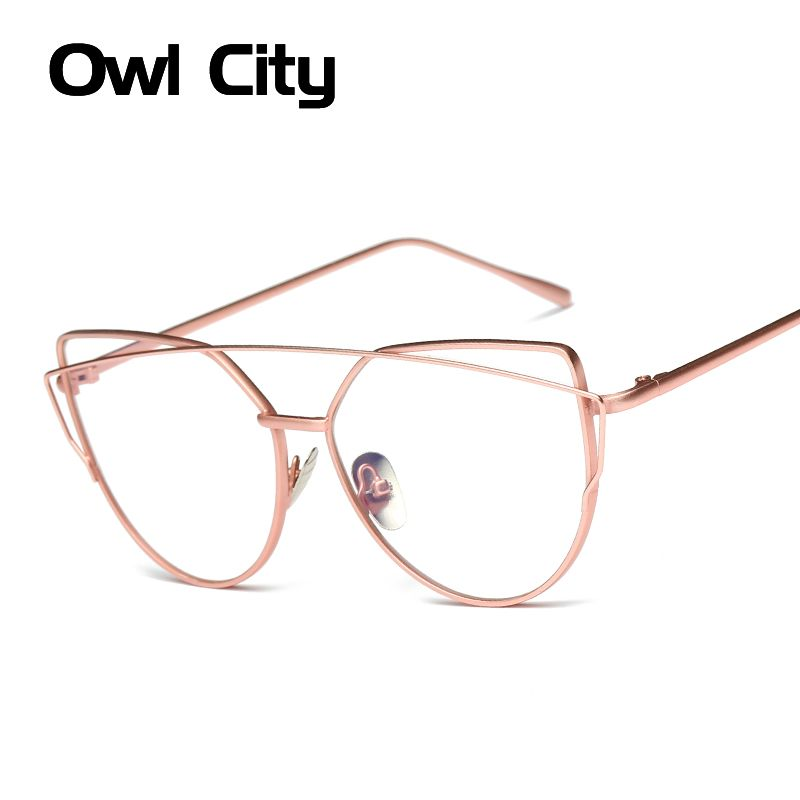 Us 4 85 Owl City Women Eyeglasses Brand Designer Alloy Frames