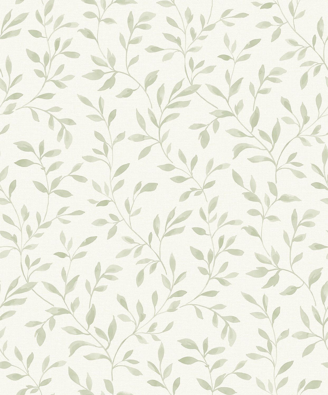 Grandeco Nerine Sage Green Leaf Matt Wallpaper Green Leaf Wallpaper Sage Green Wallpaper Green Wallpaper