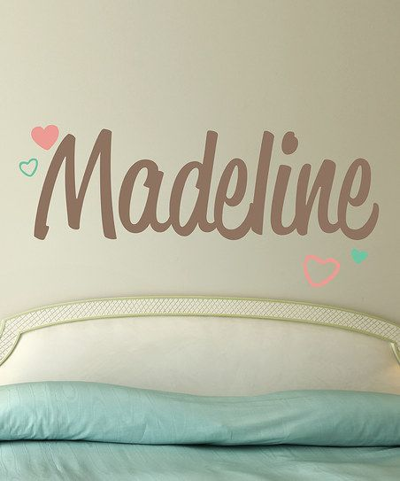 Madeline Heart Personalized Reusable Wall Decal