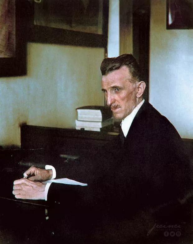 Rare Color Photo Of Nikola Tesla Tesla Histoire