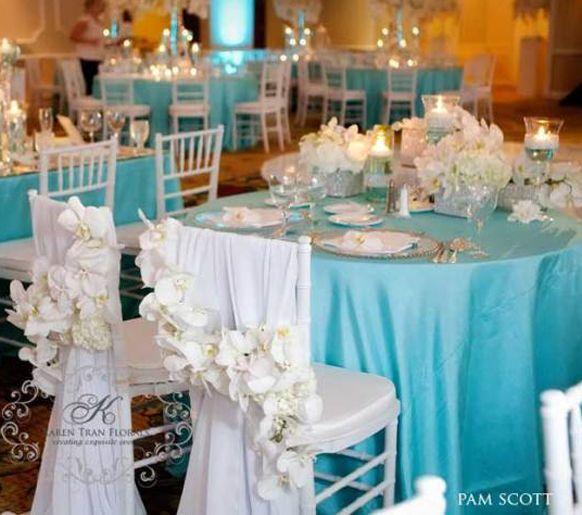 Tiffany blue wedding wedding ideas for brides grooms for Decoration en bleu turquoise