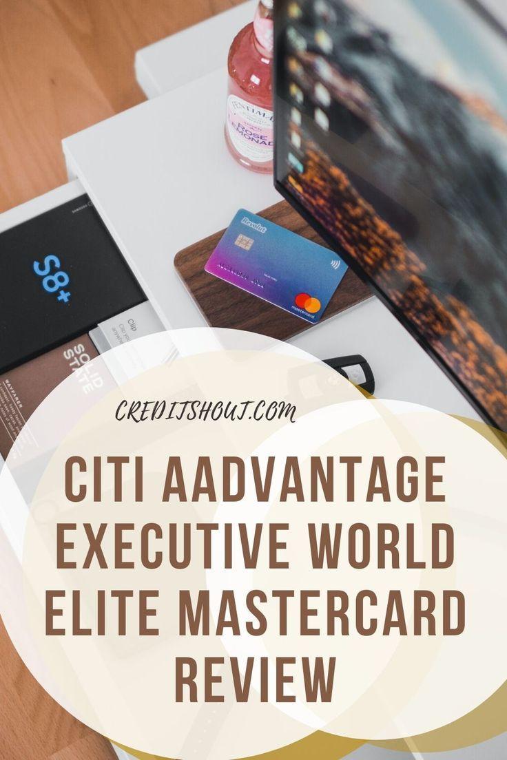 Citi aadvantage executive world elite mastercard in