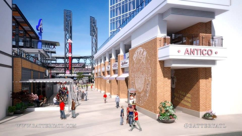 The Atlanta Braves New Home At SunTrust Park Has An Awesome Neighbor With Battery Heres Restaurant List