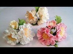 Цветок РОЗЫ (спрей-розочки). Мастер класс. КАНЗАШИ / DIY Ribbon Flower Kanzashi - YouTube #ribbonflower