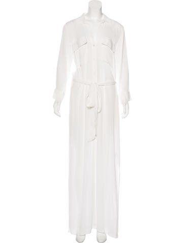 L'Agence Long Sleeve Maxi Shirtdress w/ Tags