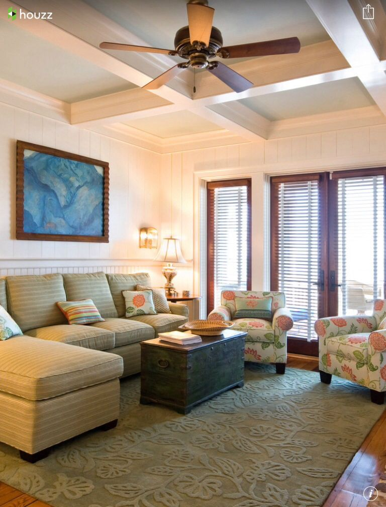 Sherwin Williams Ivory Lace Contemporary living room
