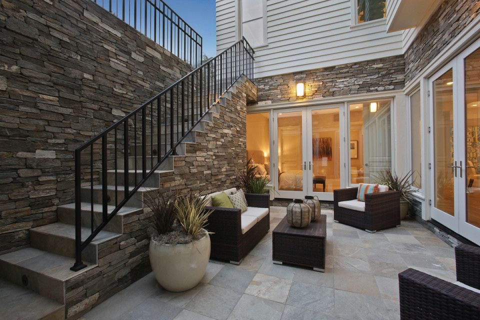Modern Farmhouse | Walkout basement patio, Basement ...