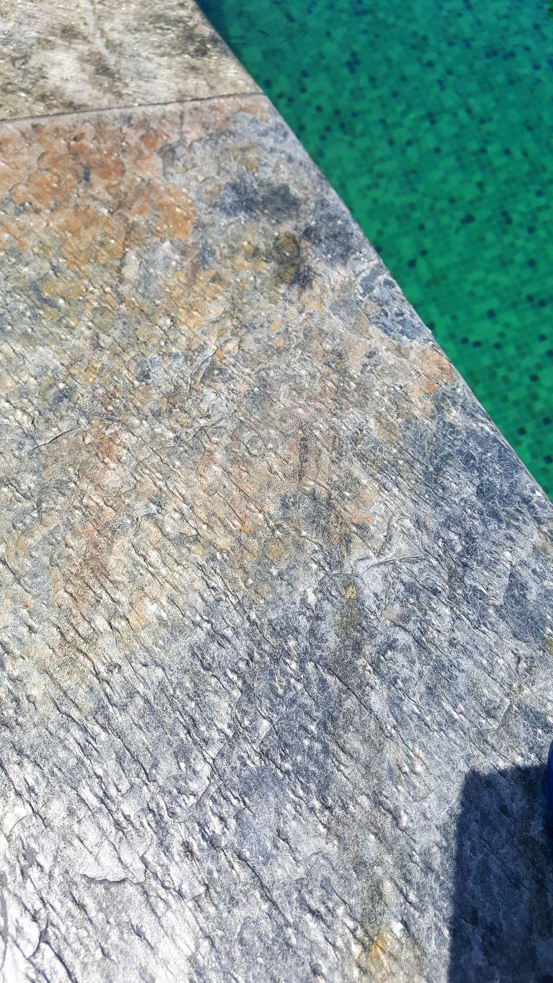Super margelle piscine pierre naturelle non polie quartzite | carrelage  QI86