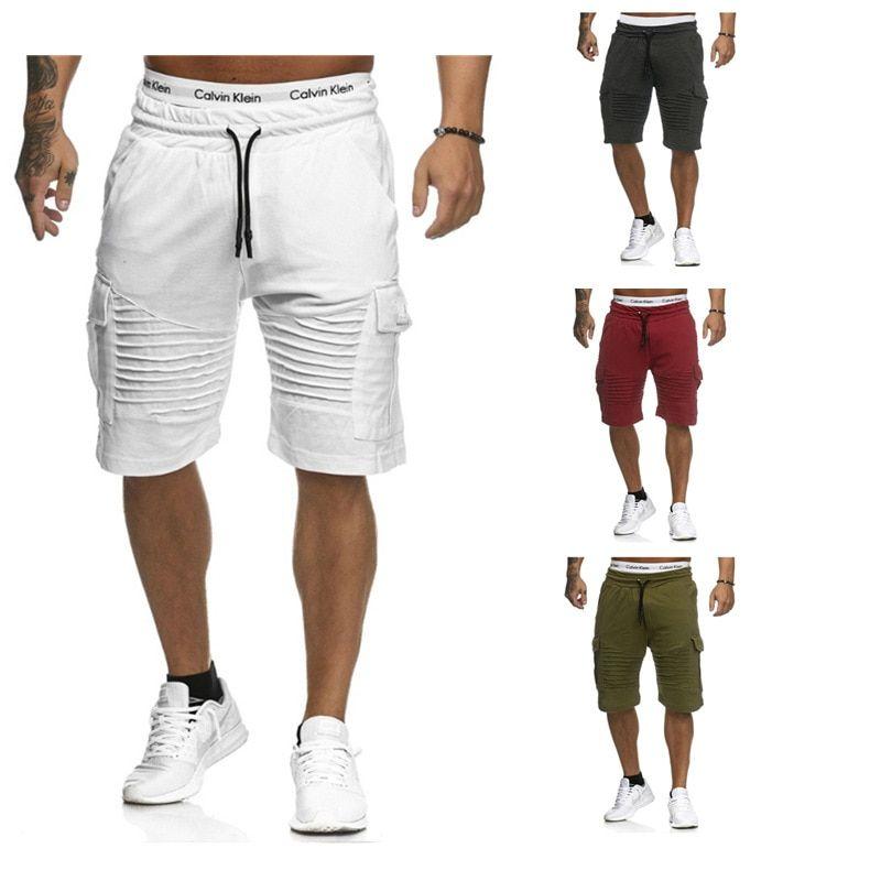 b844c9ac2e Encontrar Más Casual Pantalones cortos Información acerca de Moda Mens Shorts  2018 Mens Hip hop Shorts nuevo verano algodón Delgado ocasional Masculina  ...