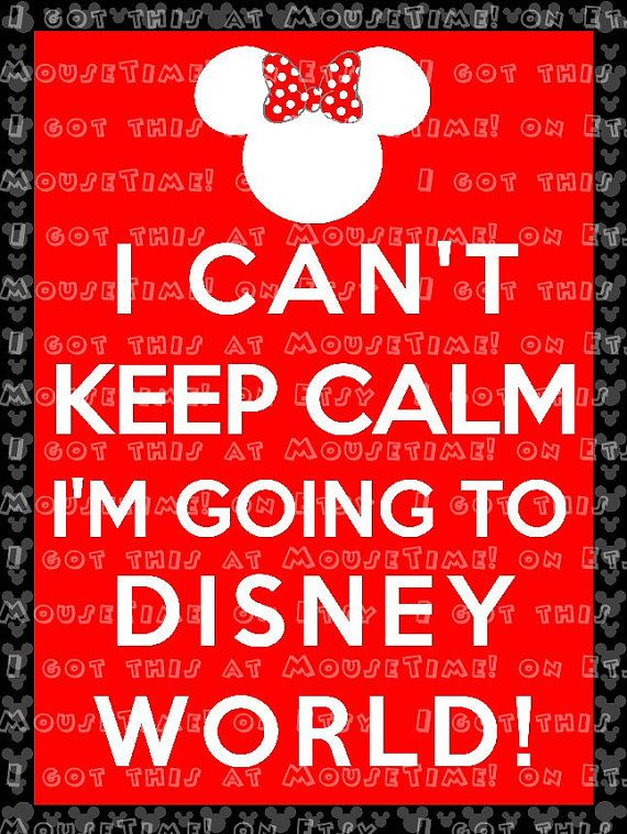 Going To Disney: IRON-ON I Can't Keep Calm, I'm At / Going To Disney World