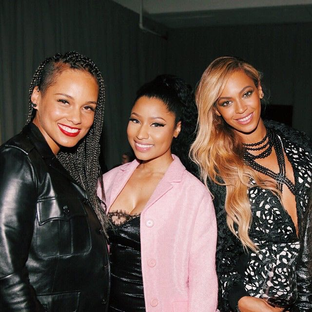 Alicia Keys, Nicki Minaj and Beyonce.. | Nicki minaj, Beyonce, Beyonce  nicki minaj
