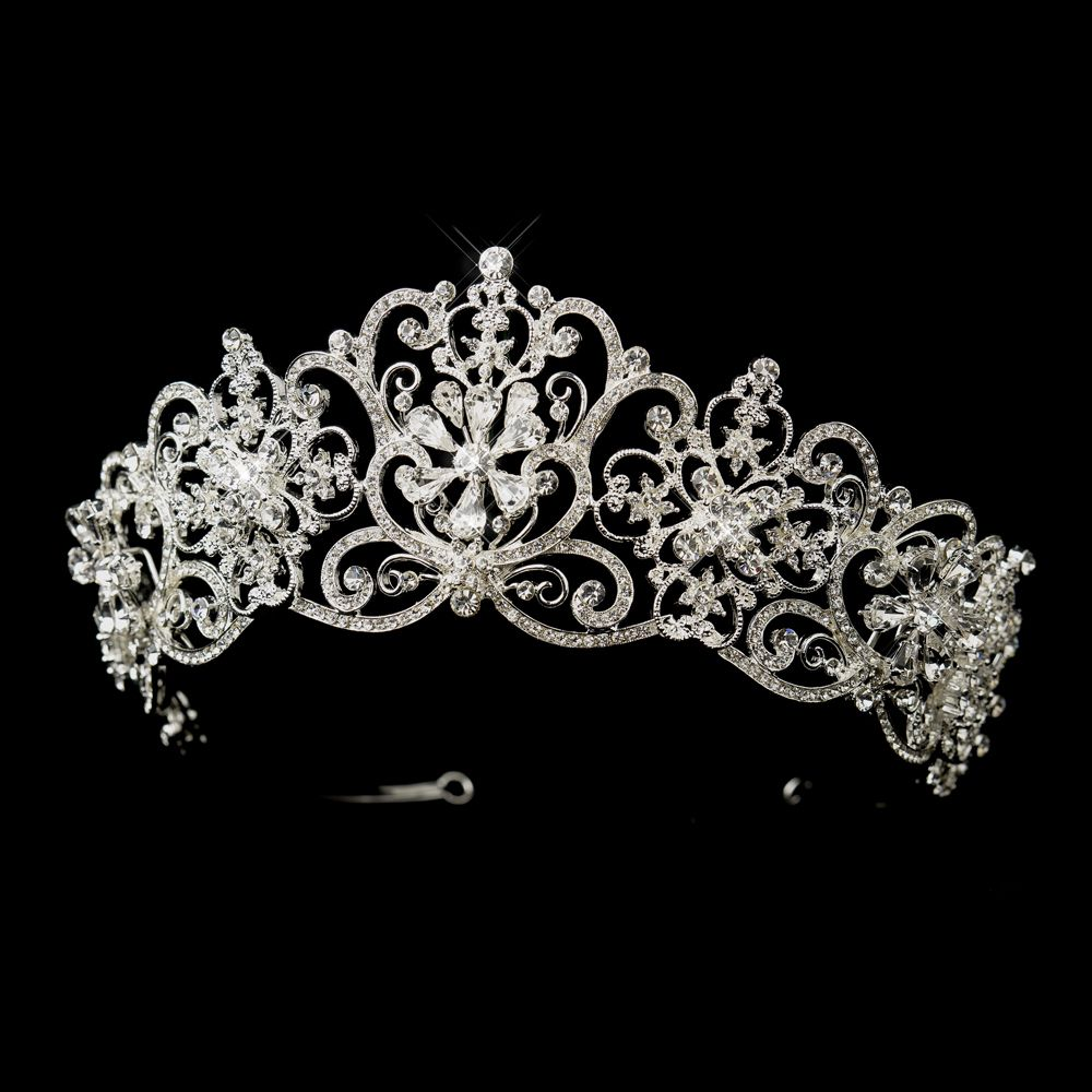 Silver Plated 2 1 2 Quot Royal Wedding Or Quinceanera Tiara
