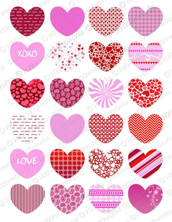 Pink Red Hearts Clipart Set White Valentines Day Transparent