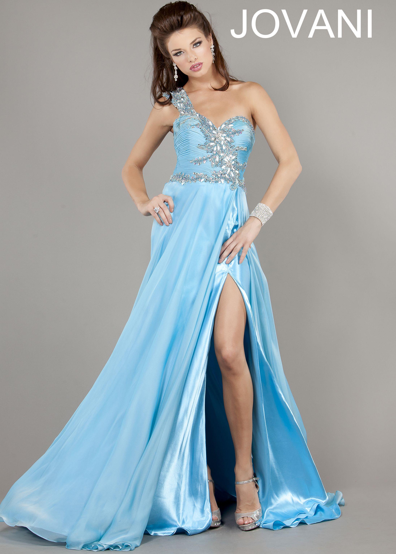 Shop 2013 prom dress Jovani 805 light blue one shoulder prom dresses ...