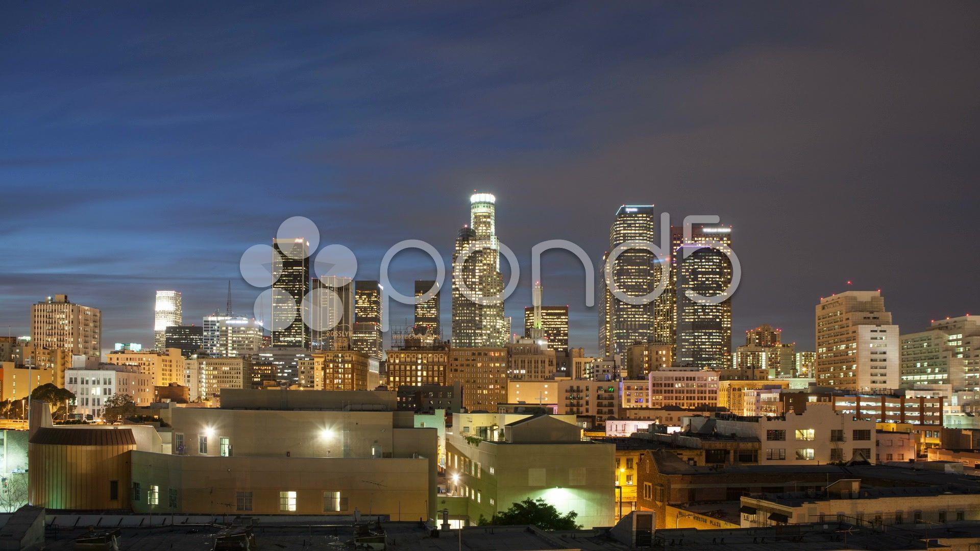La Skyline Timelapse Stock Footage Skyline La Timelapse Footage Skyline La Skyline Los Angeles Skyline