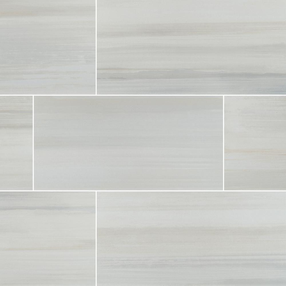 Msi Fresco Blanco 12 In X 24 In Matte Porcelain Floor And Wall Tile 12 Sq Ft Case Nhdfrebla1224 The Home Depot Porcelain Flooring Wall Tiles Floor And Wall Tile