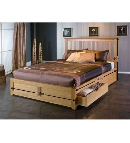 Wooden Double Bed Designs With Storage AD Studios | BED ...