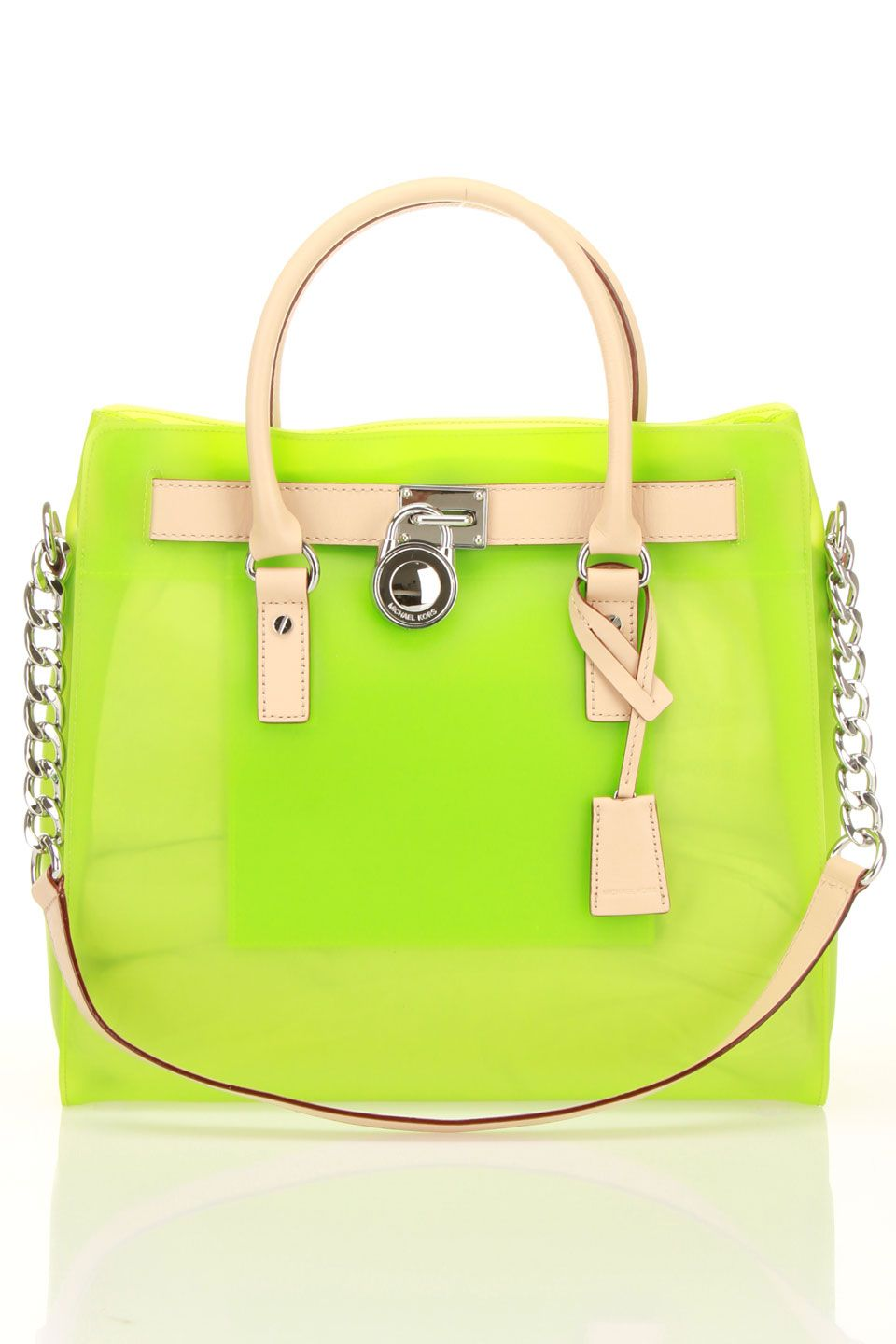 MK Jelly Tote in Neon Green | michael kors purses | Pinterest ...