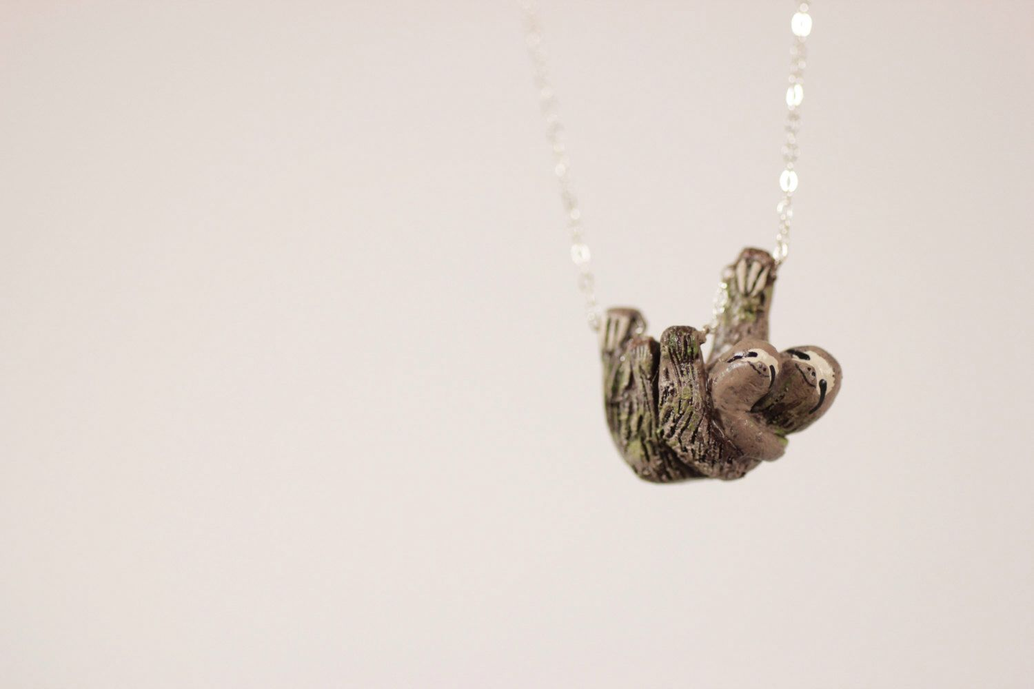 in silver with sloth swarovski pendant crystaluxe itm crystals sterling