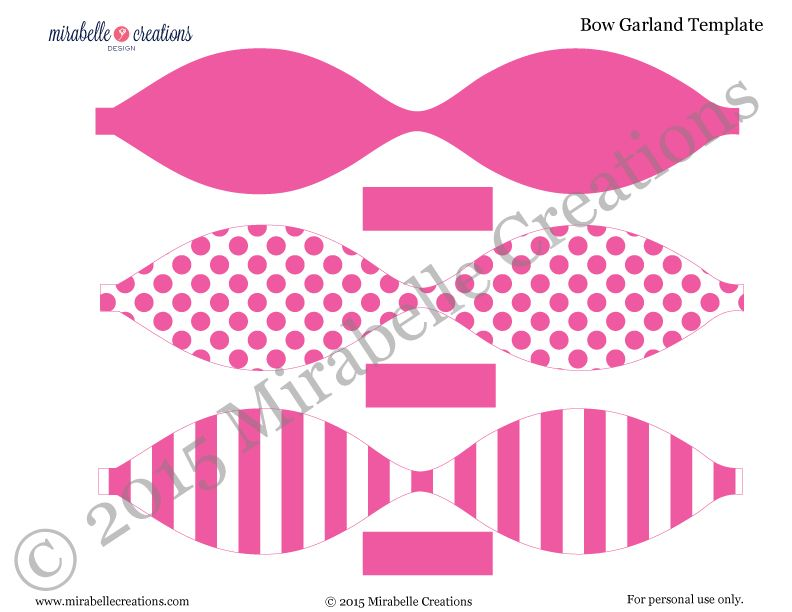 New to the shop preppy bows stripes printable party collection new to the shop preppy bows pronofoot35fo Gallery