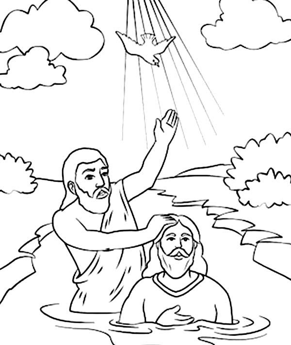 John baptism jesus coloring page another picture and gallery about jesus baptism coloring page baptism of jesus coloring pages printables john baptized j