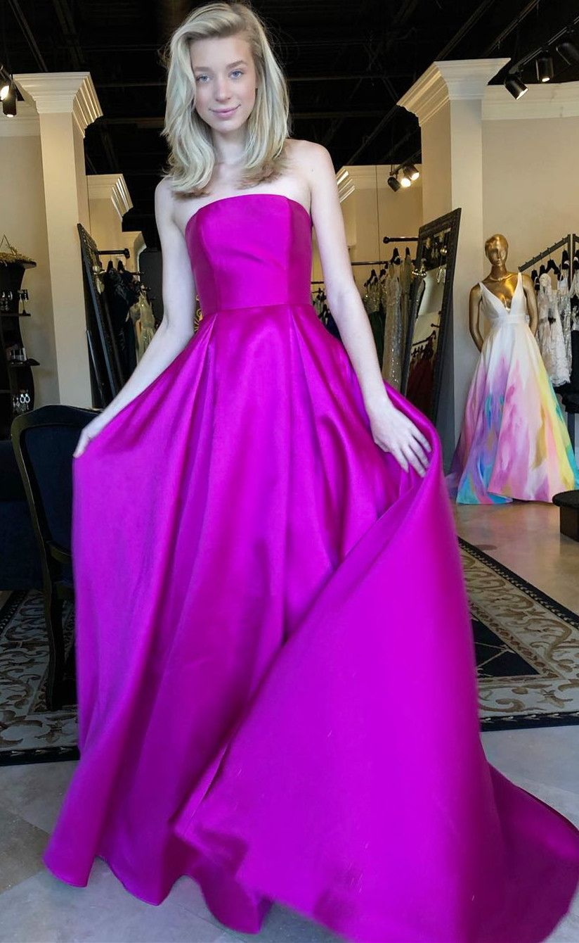 09377a71f76 Strapless Fuchsia Long Ball Gown from Modcody in 2019