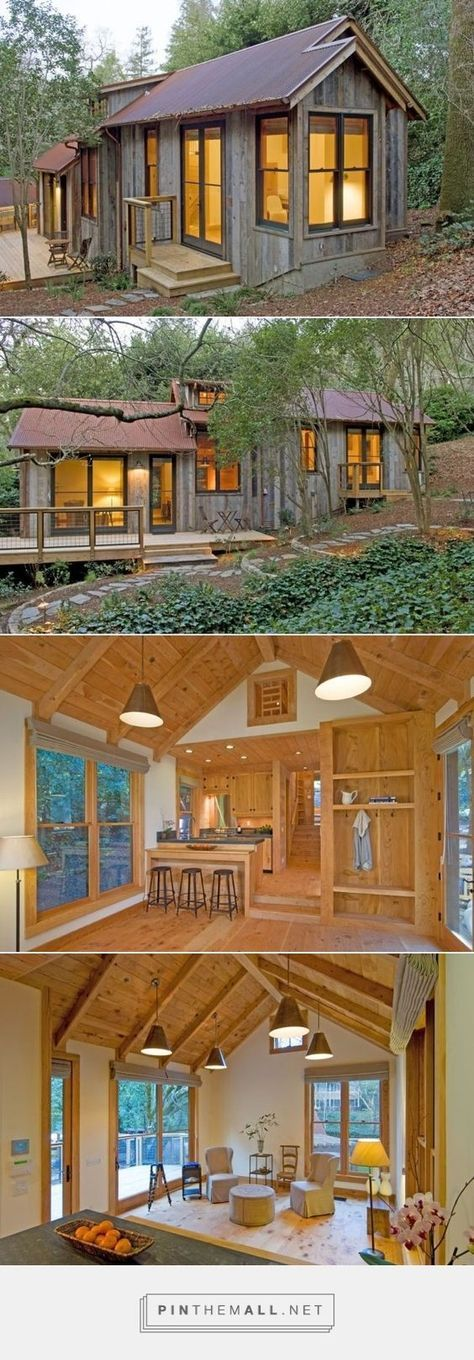 714 Sq. Ft. Cabin Built with Reclaimed Barn Wood | Minihaus, Mini ...