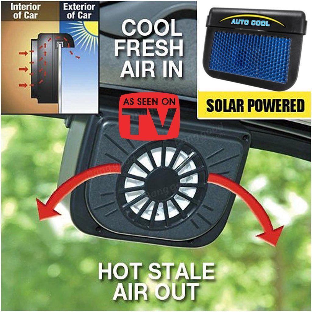 Solar Sun Powered Power Window Fan Ventilator Auto Cool Air Vent For Auto Car