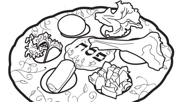 seder plate grandparentscom grandparentscoloring pagesfree printableplate - Grandparentscom Coloring Pages