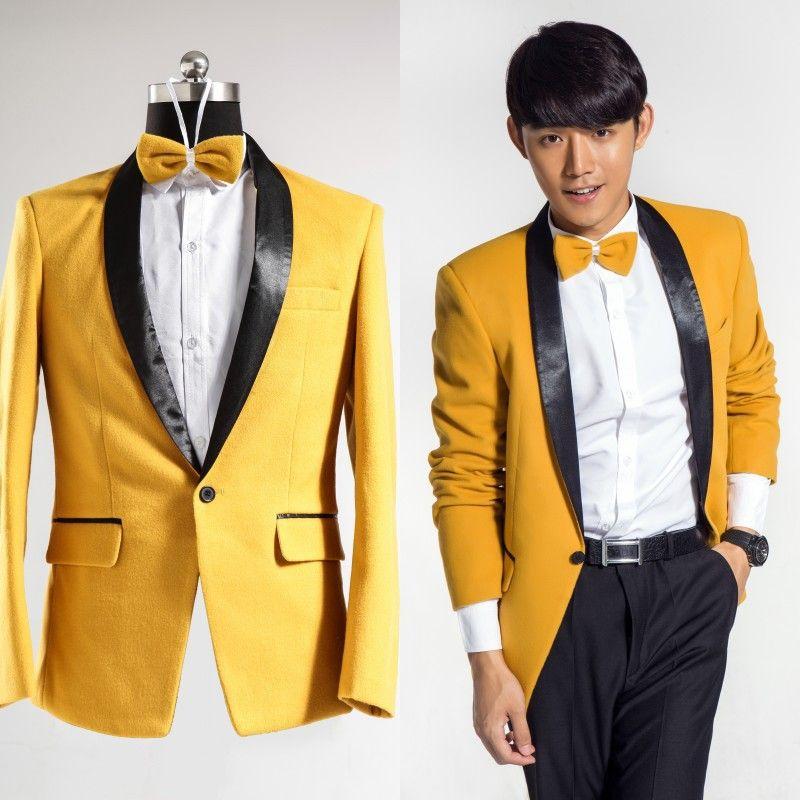 yellow dress pants for men | Men-s-dress-suits-bright-yellow ...