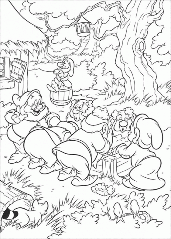 Princess Snow White Friends Coloring Pages Snow White Coloring Pages Cool Coloring Pages Disney Coloring Pages