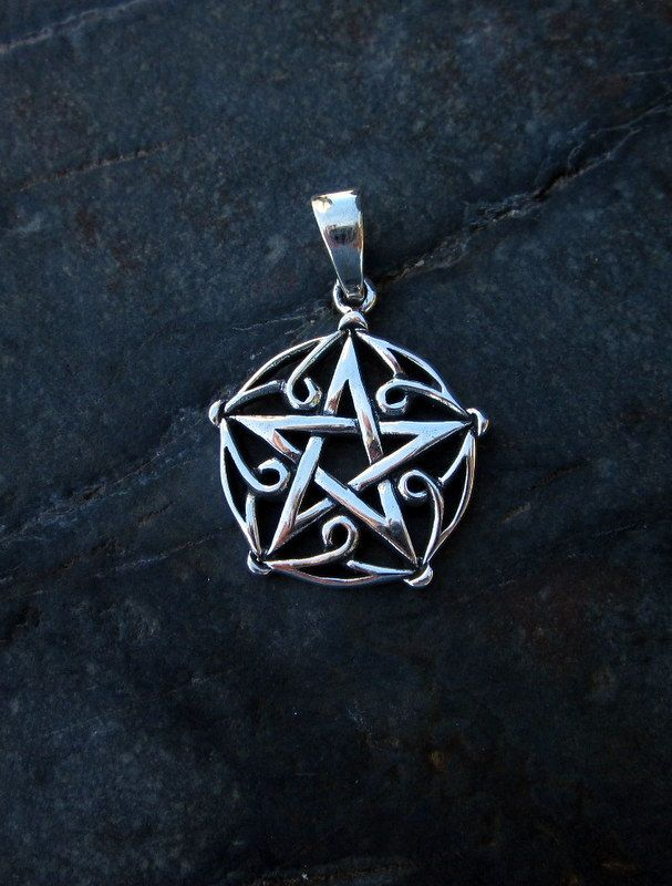 Sterling silver tree of life with pentagram pendant 475 by sterling silver pentagram pendant pendant is from the top of the bale chain sold separately aloadofball Choice Image