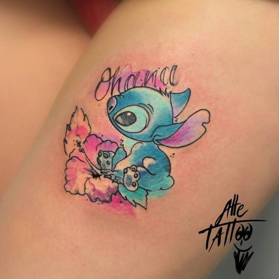 Photo of 22 Adorable Colorful And Black Ink, Disney Tattoos