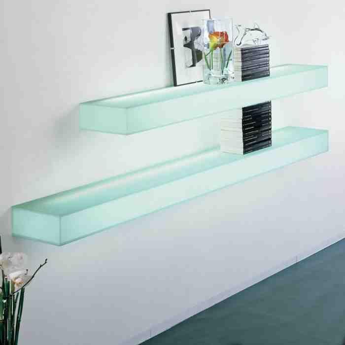 Floating Glass Shelves Wall Mount Glass Shelves In Bathroom