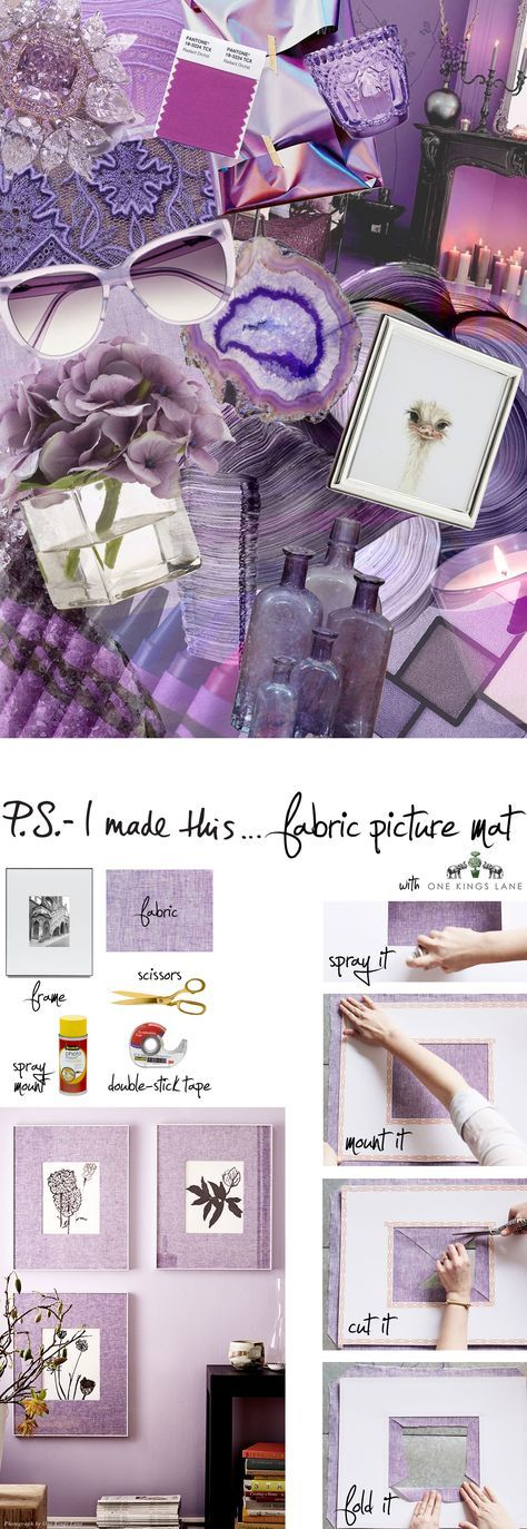P.S.- I made this...Fabric Picture Mat with @onekingslane #PSIMADETHIS #DIY