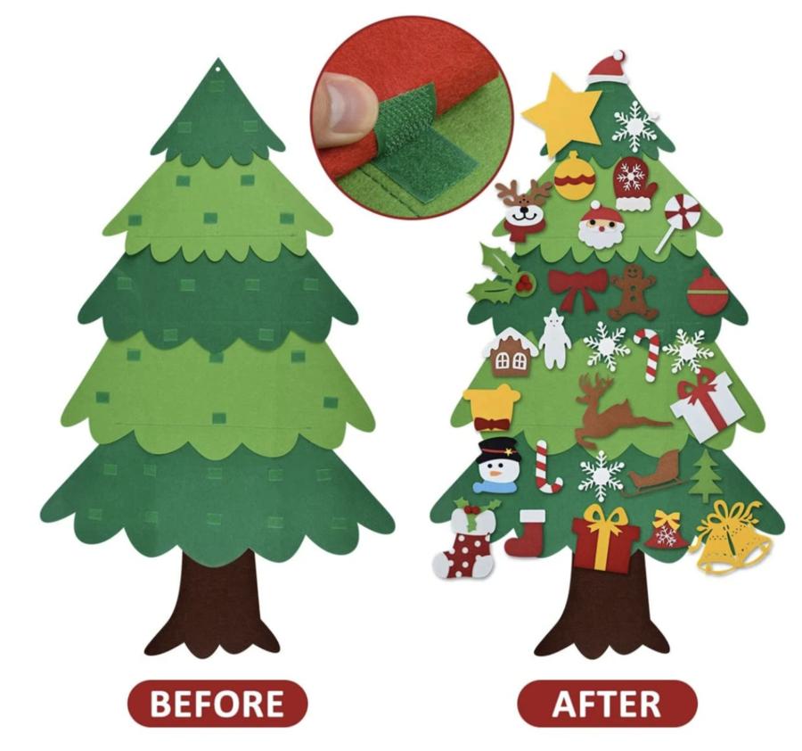 Diy Felt Tree Spare Ornaments Bundle Coolcoolly In 2020 Diy Felt Christmas Tree Felt Christmas Tree Felt Tree