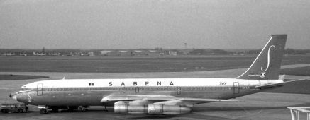 Sabena's OO –SJK B707-329C (here in BRU on 23 March 1968) crashed 8 miles from Lagos, on 13 July 1968, after a cargo flight from Brussels. Five crew and two pax were killed. The reason why the aircraft descended below its minimum safe altitude has not been determined. Latter report could feed the hypothesis that it might have been carrying weapons which caught fire during the Biafra-Nigerian War.