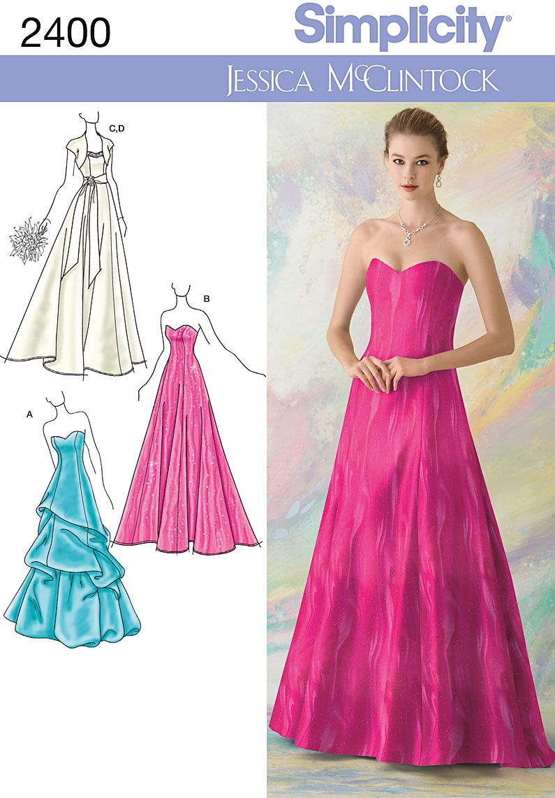 Easy girls dress free pattern flower girl easter dress bridal and evening gown sewing pattern 2400 jessica mcclintock for simplicity ombrellifo Choice Image