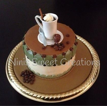 Coffee Themed Cake - Cake by Maria | Starbucks cake ...