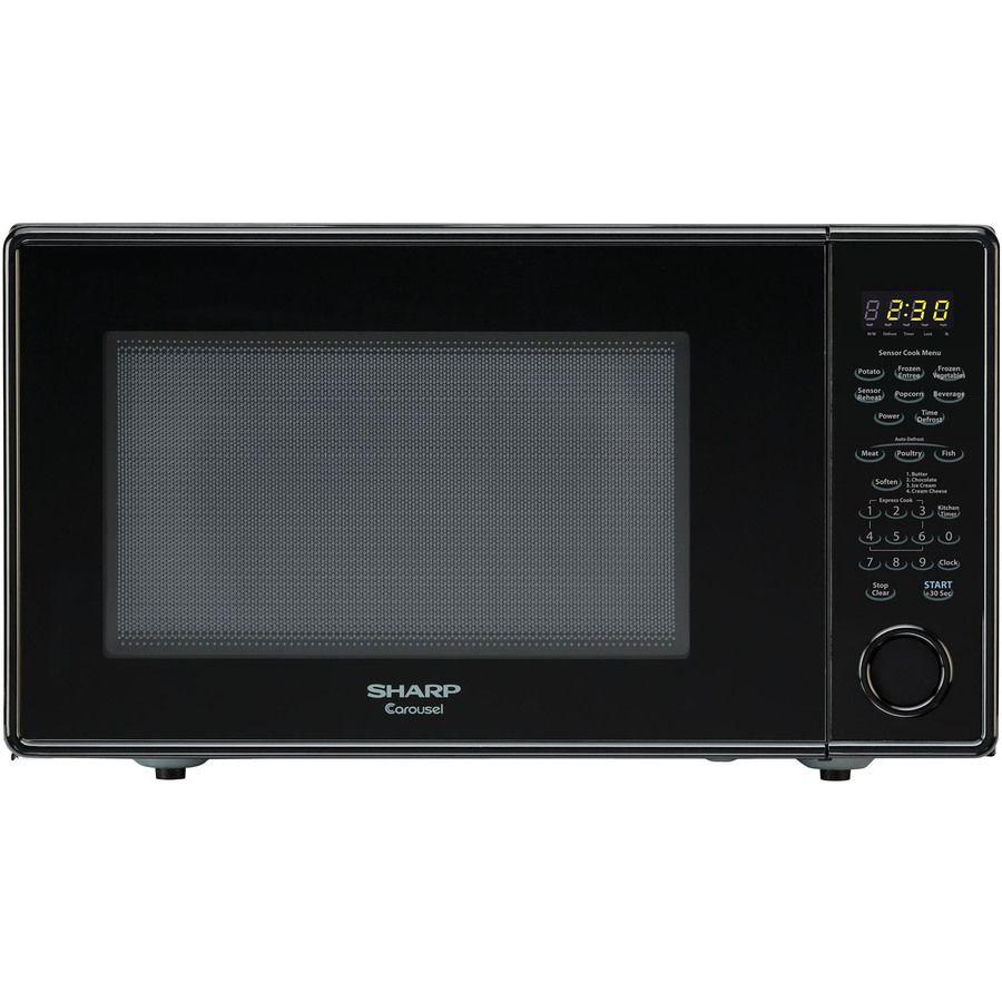 Sharp Carousel 1 8 Cu Ft 1100 Countertop Microwave Black R559yk