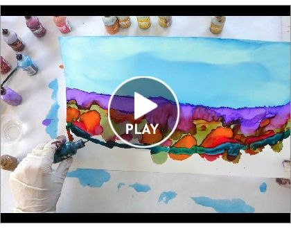Click to play this Smilebox slideshow. Demo of June Rollins creating Dreamscape No. 104, 9x15.