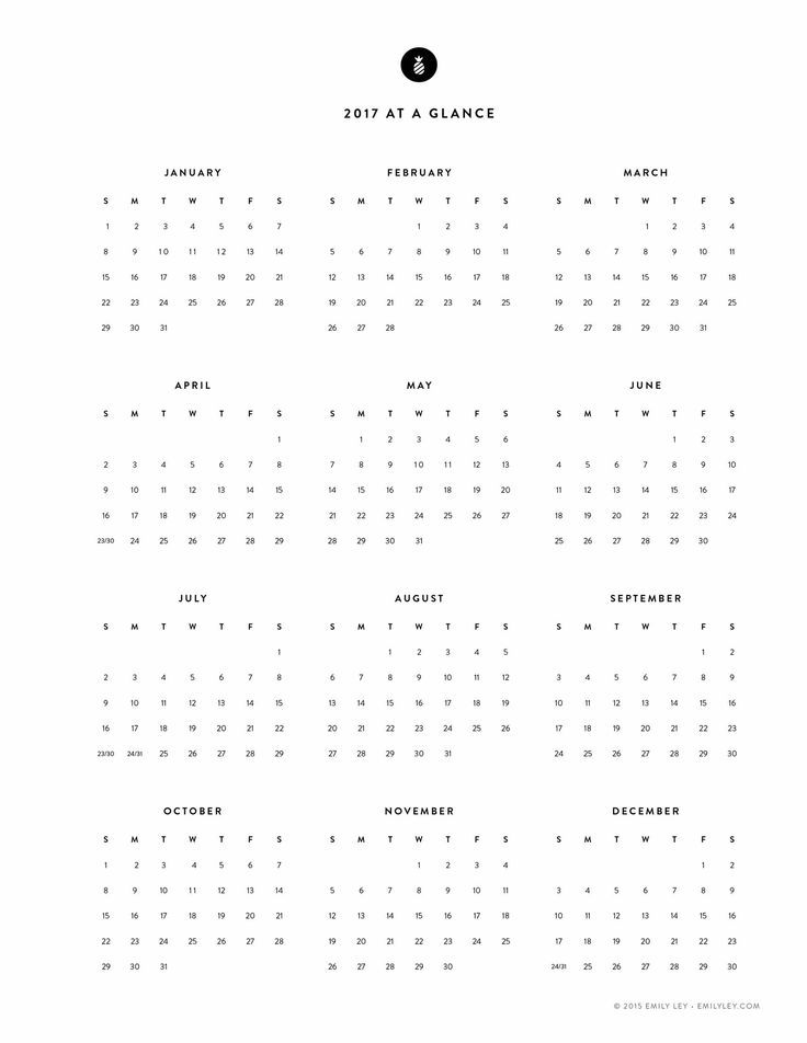 Image result for minimalist calendar 2017 Freebies Pinterest - sample monthly calendar